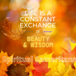 Life is a Constant Exchange of Beauty and Wisdom